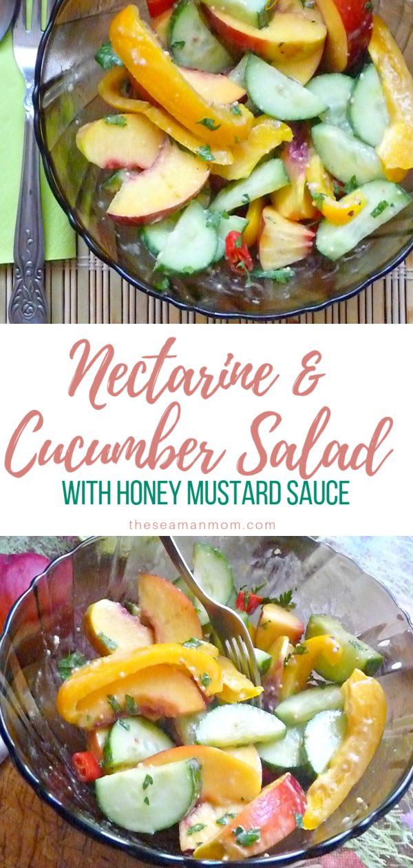 Nectarine cucumber salad