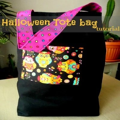 Trick Or Treat Halloween Tote Bag Sewing Tutorial