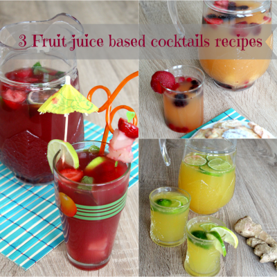 Refreshing Fruit juice based cocktails