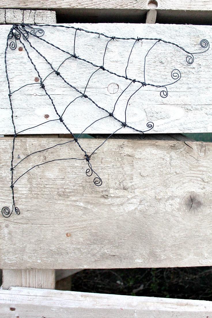 wire spider web