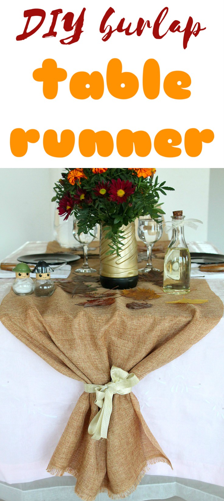 If you're looking for an affordable table runner for the upcoming entertaining season, you might wanna consider making this jute table runner! Its super easy & quick, made from burlap and ribbon.