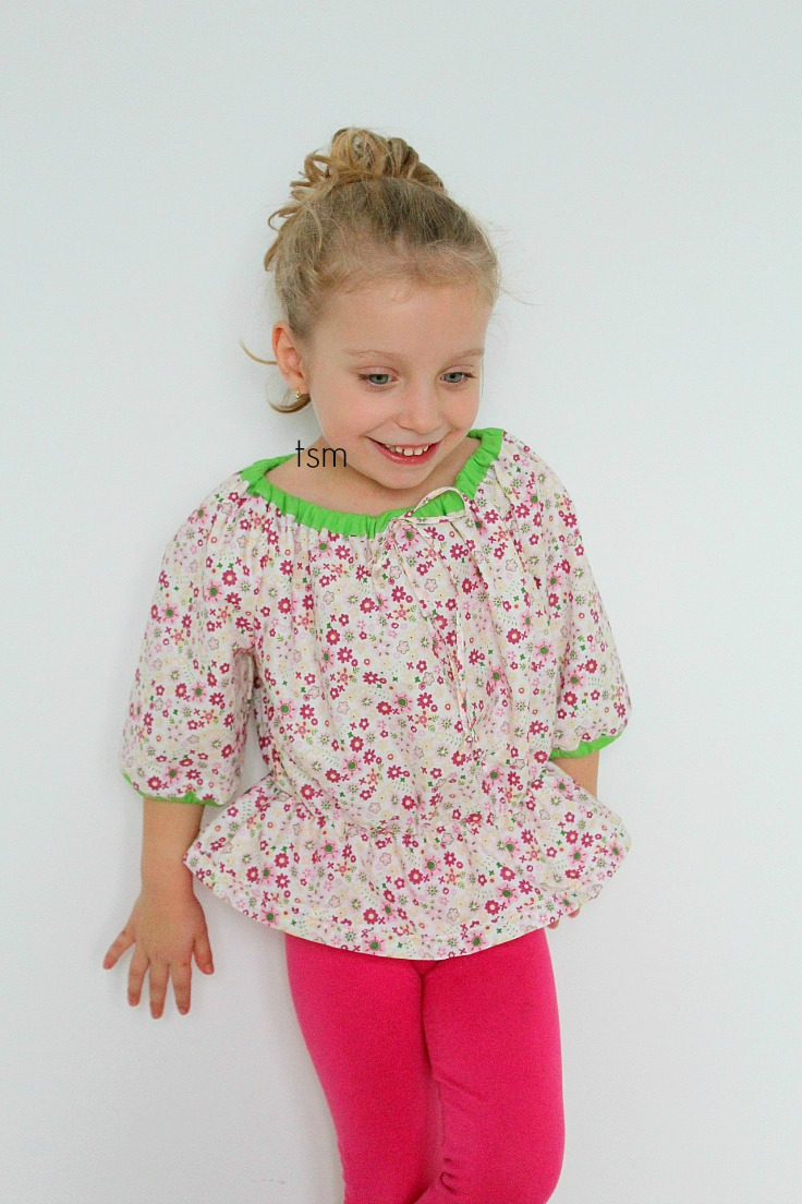 Girls peasant blouse pattern