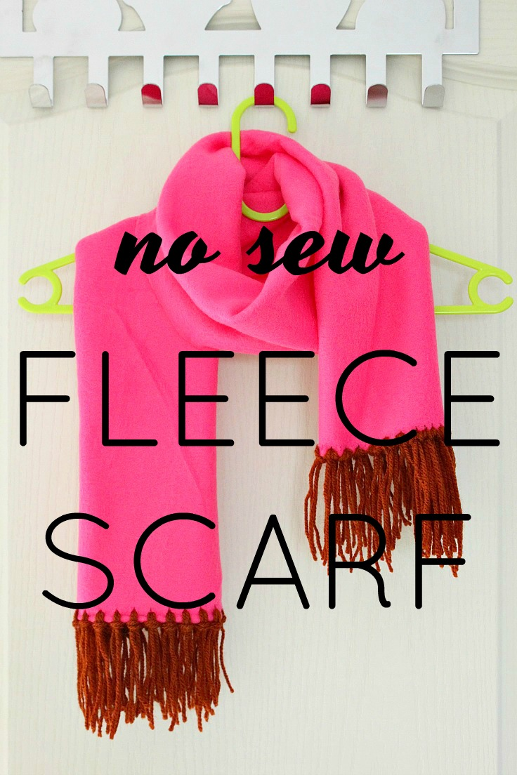 How to make a fringed fleece scarf