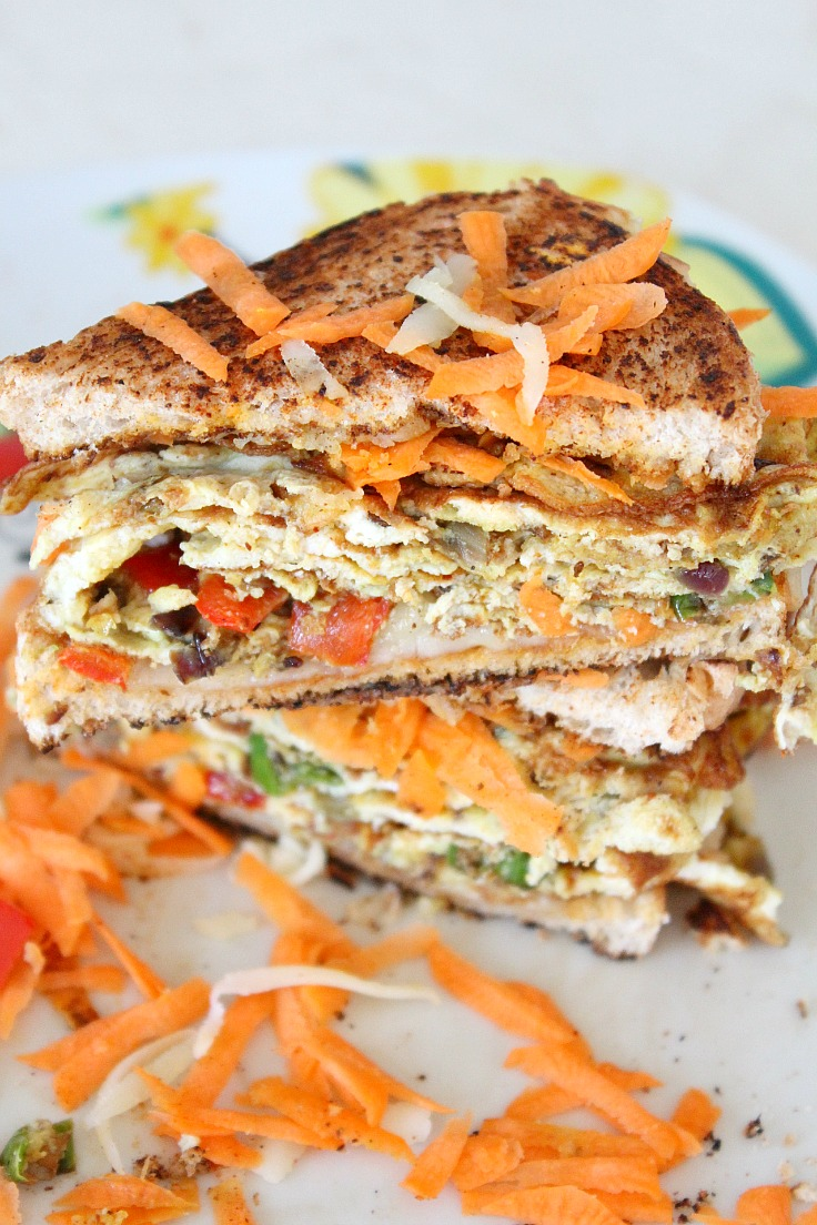 Indian Omelette sandwich recipe