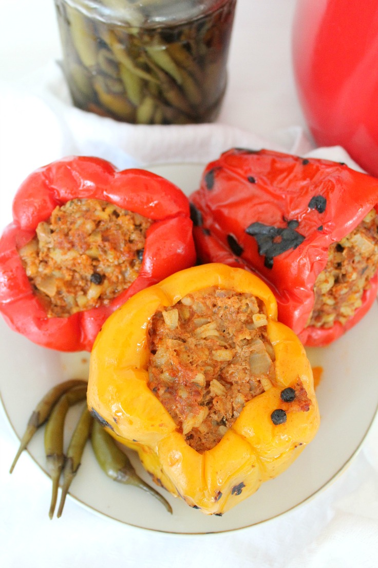Meat stuffed peppers