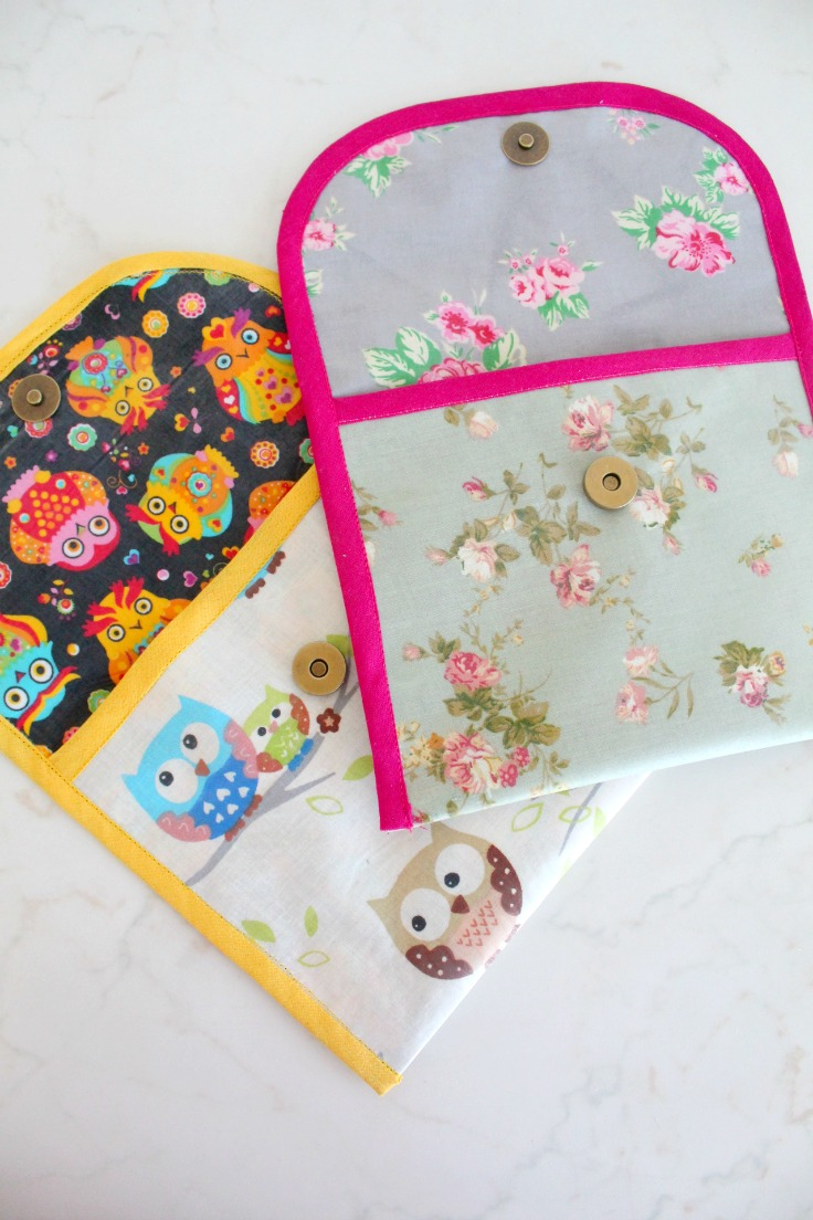 Sewing reusable snack bags