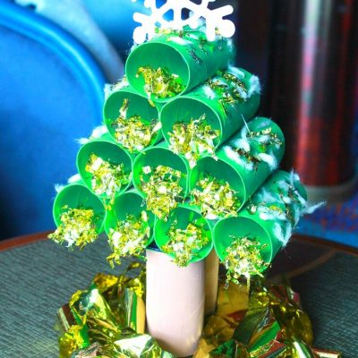 Easy cheap Christmas Tree even kids can make
