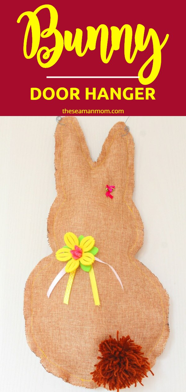 If you're an ultimate beginner sewist who loves simplicity, this super easy and quick bunny door hanger is just the right project for you! via @petroneagu