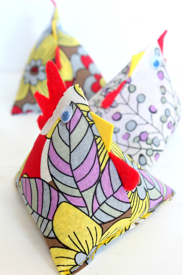 Fabric chickens