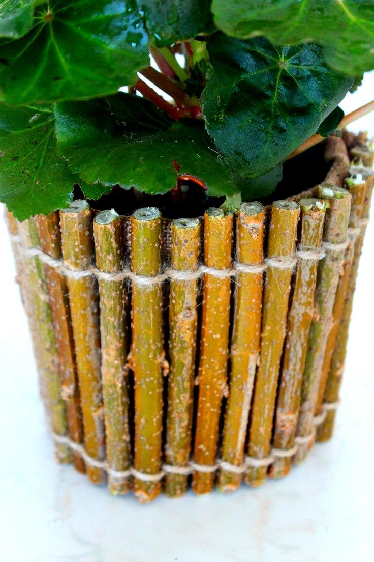 Twig Flower Pot