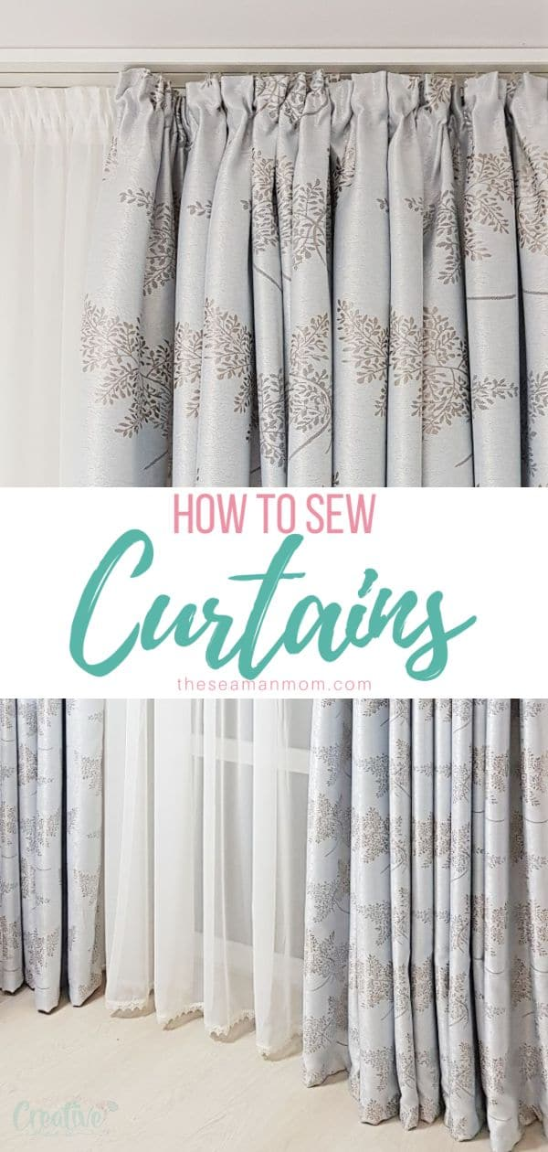 Having custom made curtains doesn't have to be expensive! Make your own with this easy peasy DIY curtains tutorial! Sewing curtains is the perfect project for beginner sewists! via @petroneagu