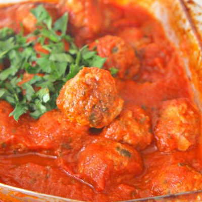 The Ultimate Baked Meatballs In Sauce