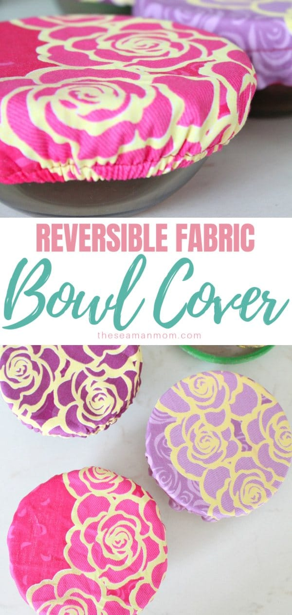 Create personalized fabric bowl covers and tote your side dishes to potlucks and barbecues in style! Make your own customized bowl cover with this easy and quick reusable bowl covers tutorial! via @petroneagu