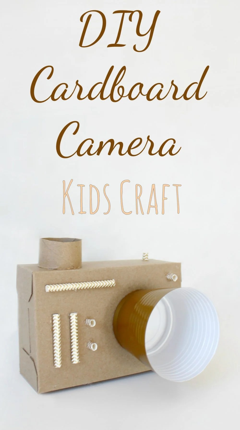 Encourage your kids to express their creativity with this DIY cardboard camera! This pretend play camera is loads of fun, simple and easy to make by or with kids!