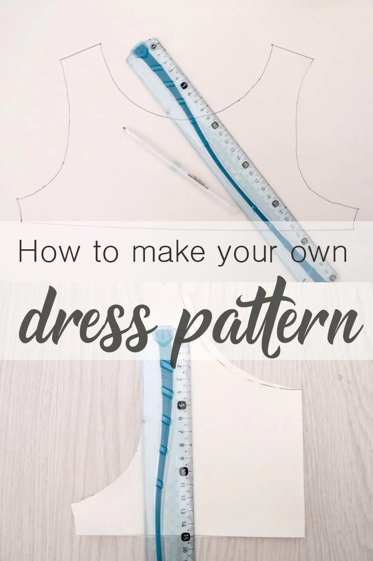 Ever wanted to make clothes that fit you perfectly? This simple and easy tutorial on dress pattern making will teach you how to make your own dress pattern in a snap!