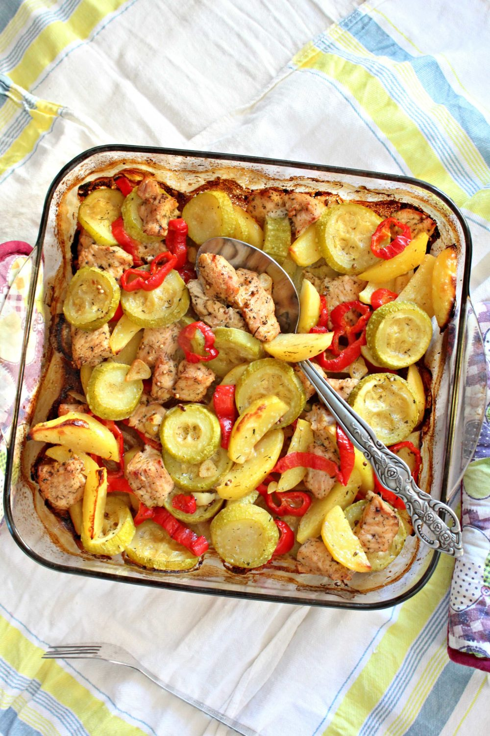 one pan turkey breast and vegetables