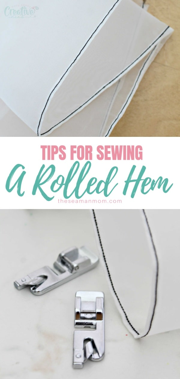 Ever wondered how those teeny tiny, perfectly sewn narrow hems are made, particularly on lightweight fabric? Here you'll learn how to sew a rolled hem yourself, through the best and easiest method! via @petroneagu
