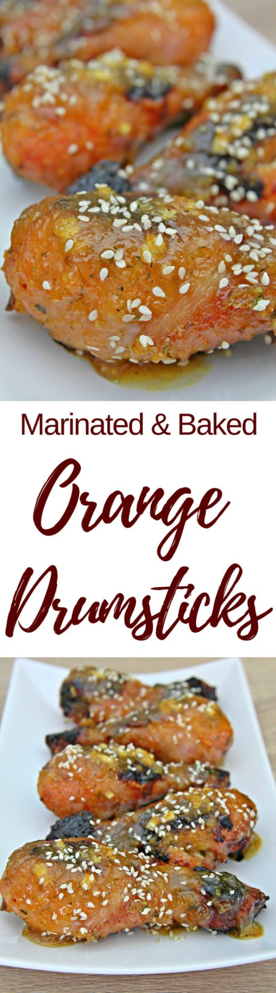 Orange chicken drumsticks