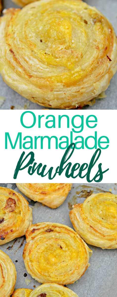 Orange marmalade pinwheels