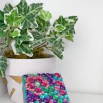 Handmade Jewelry Box With Rhinestones And Paint
