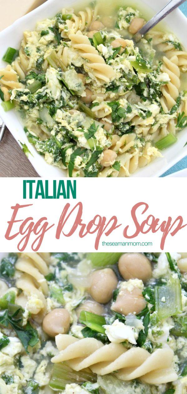 Italian egg drop soup