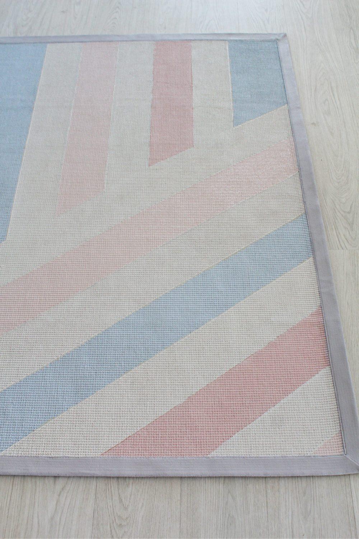painted jute rug