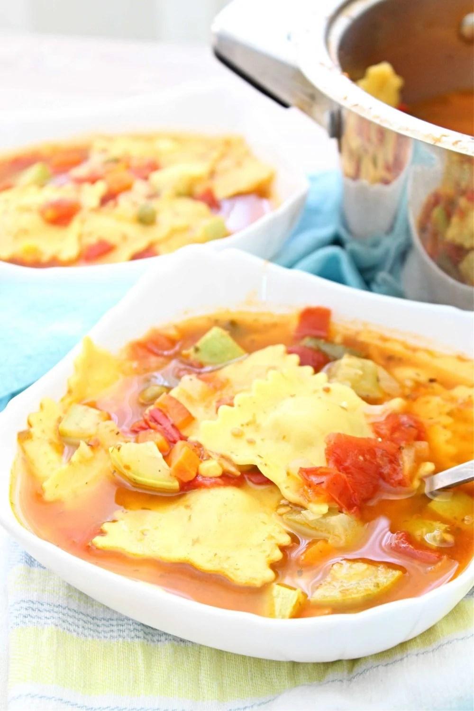 tomato ravioli soup
