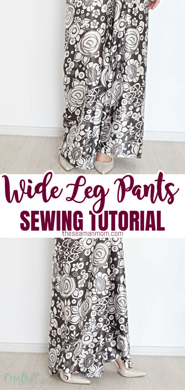 Not skilled enough to sew your own pants? With this wide leg pants pattern you don't need a lot of experience! These DIY wide leg pants are so simple to draft, cut and sew, perfect project for beginners! via @petroneagu