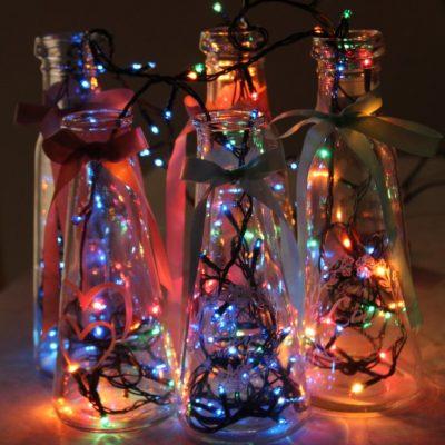 Bottle Lamps Magical Party Decor Idea