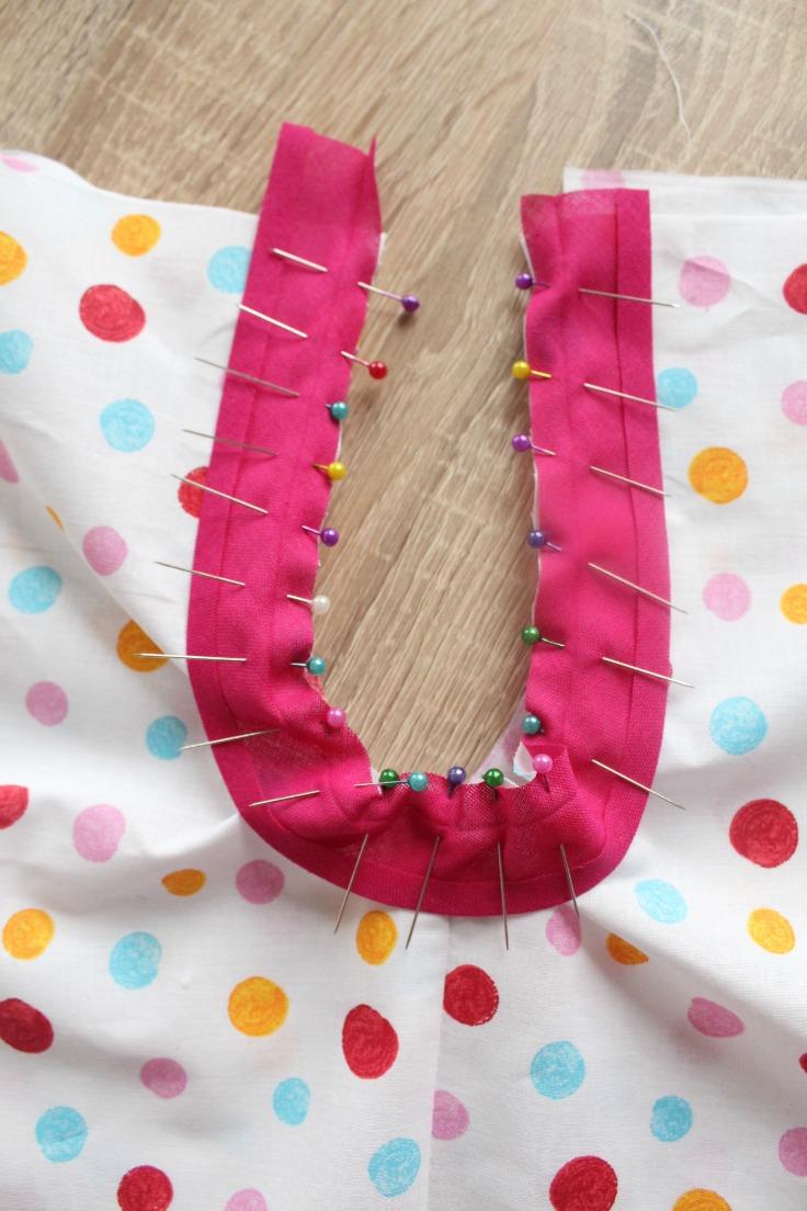 Sewing bias tape