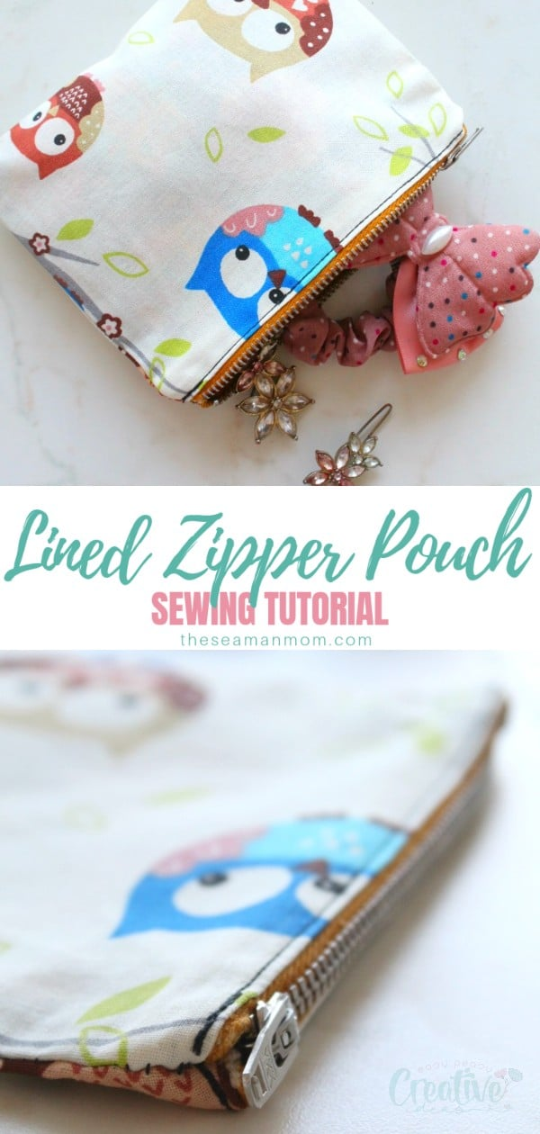 Sewing a pouch is easy, fun and practical! Make a bunch of cute pouches with lining using this simple zippered pouch tutorial! A DIY zipper pouch is a great project for beginners to practice their zipper skills! via @petroneagu