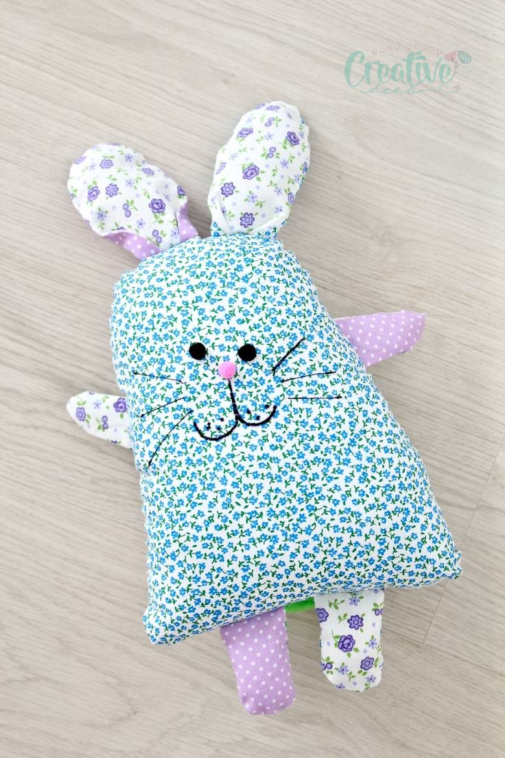 Bunny shaped pillow