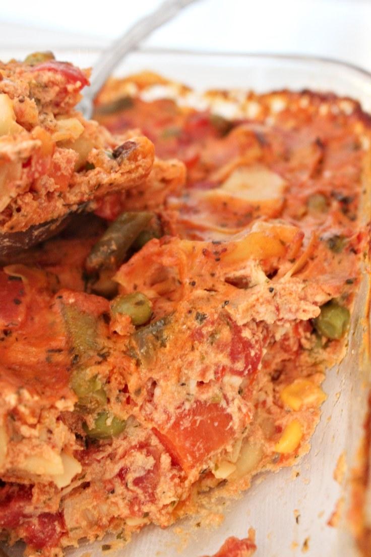 Tortellini vegetable bake