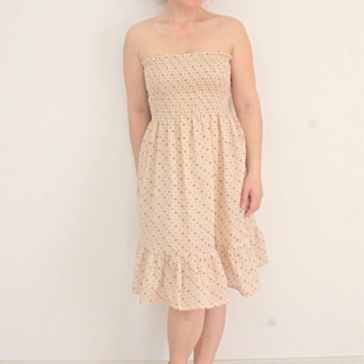Easy shirred dress sewing tutorial