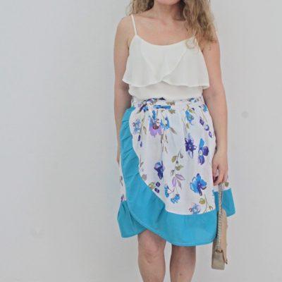 DIY ruffled wrap skirt sewing tutorial