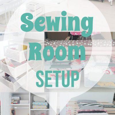 My Sewing room organization