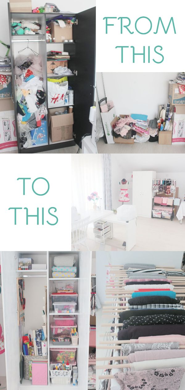 Sewing room setup
