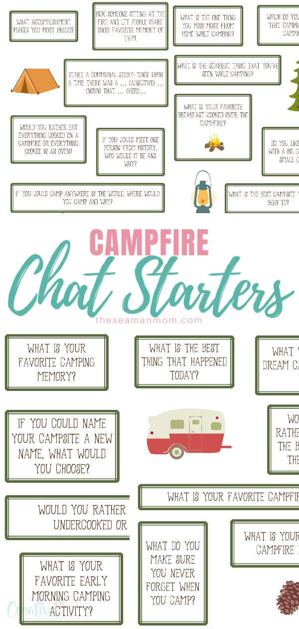 Love camping and sitting around the fire? Add some cool campfire games for endless moments of fun and laughter that will create lasting memories! These fun camping ideas are easy to play from the comfort of you camping chair, under the magical light of the campfire! via @petroneagu