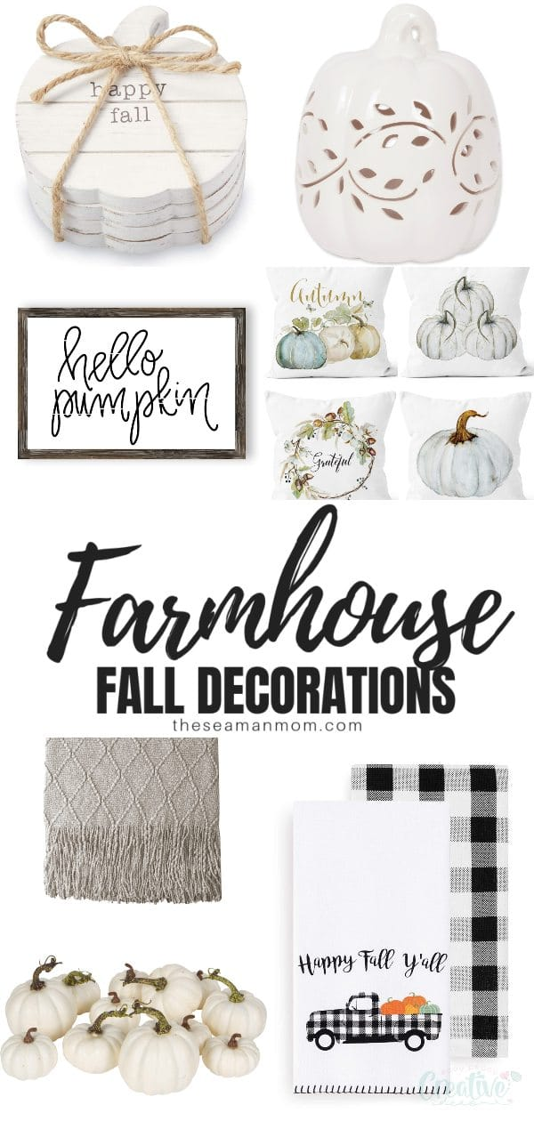 If you've been looking for ideas for farmhouse fall decorations for your living room, bedroom, kitchen and any room you want to decorate in country charm, you'll absolutely love these farmhouse decor ideas! via @petroneagu