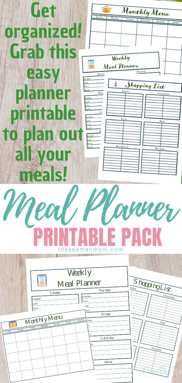 Planning family meals seems like a daunting, time consuming task? Keep this printable meal planner on your fridge and know at a glance what's on the menu every day, for the rest of the week and month! via @petroneagu
