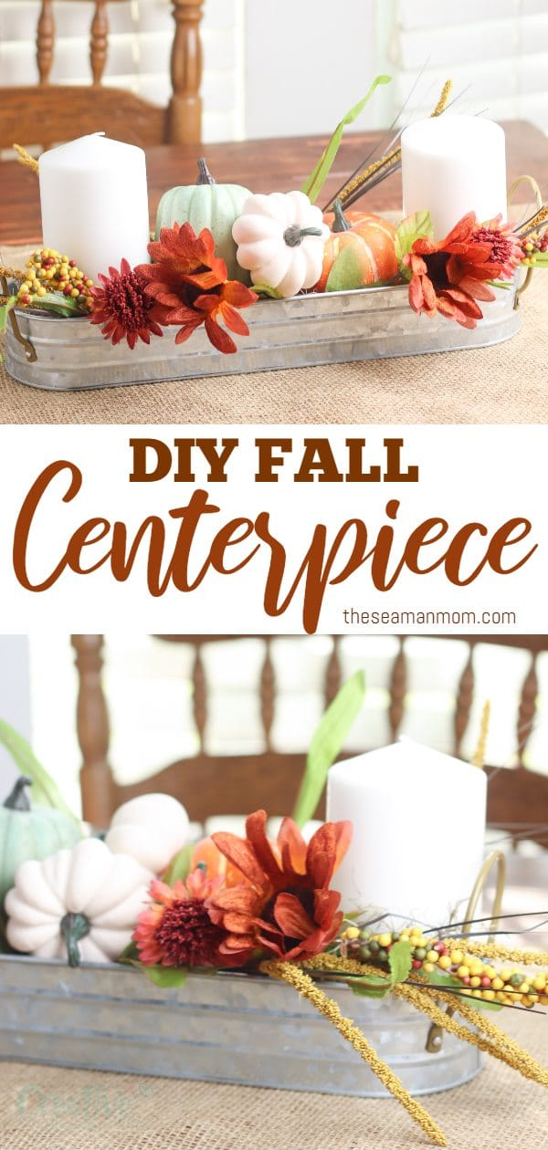 Adding a decorative centerpiece to your dining room table is one of the easiest ways to spruce up the room throughout the year. With this simple DIY fall centerpiece, your dining room table will instantly be transformed into a beautiful fall tables cape. via @petroneagu