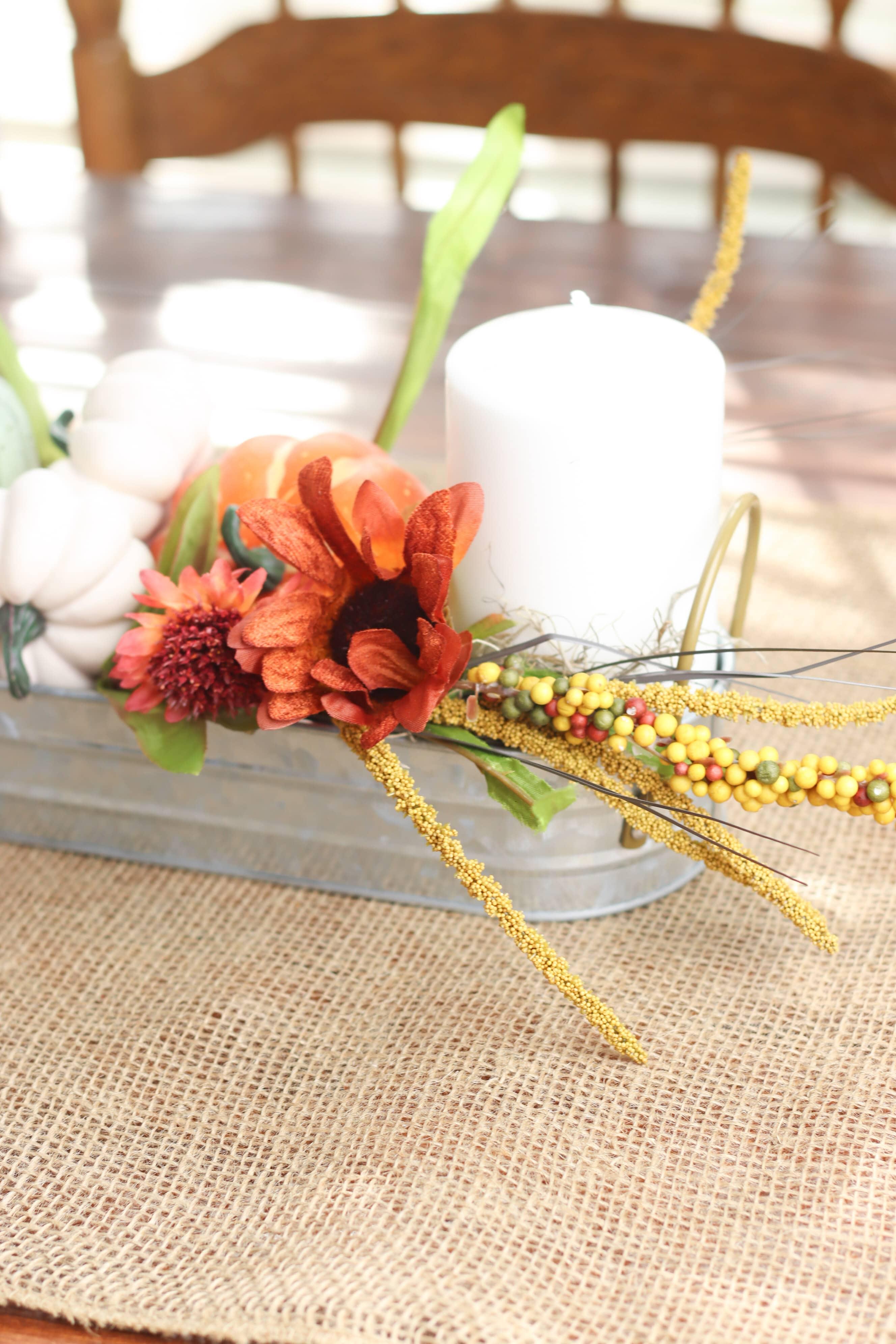 Autumn table decorations