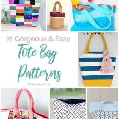 21 Gorgeous tote bag patterns