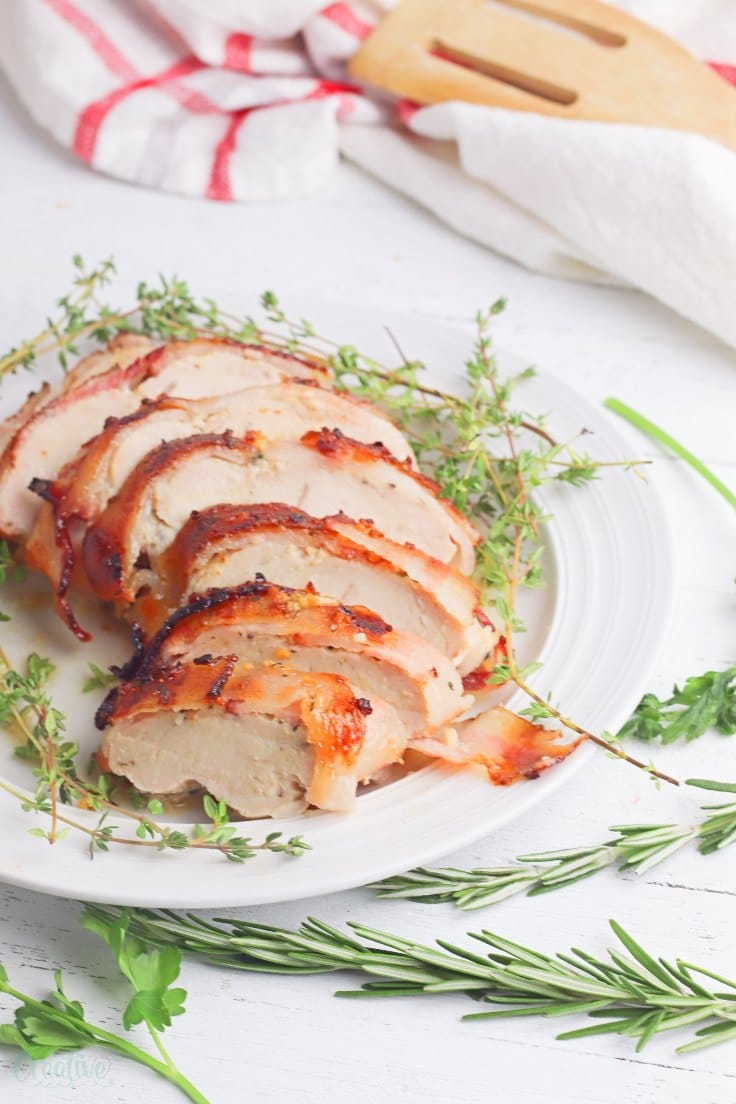 Turkey breast with bacon