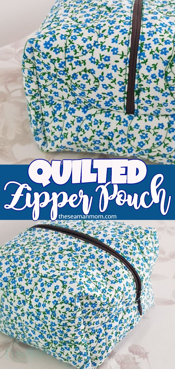 Need to add a new small zipper pouch to your collection of bags & pouches? Learn how to make a quilted zippered pouch in this easy sewing tutorial! This quilted pouch is super fun to make, chic and so useful to have around! via @petroneagu