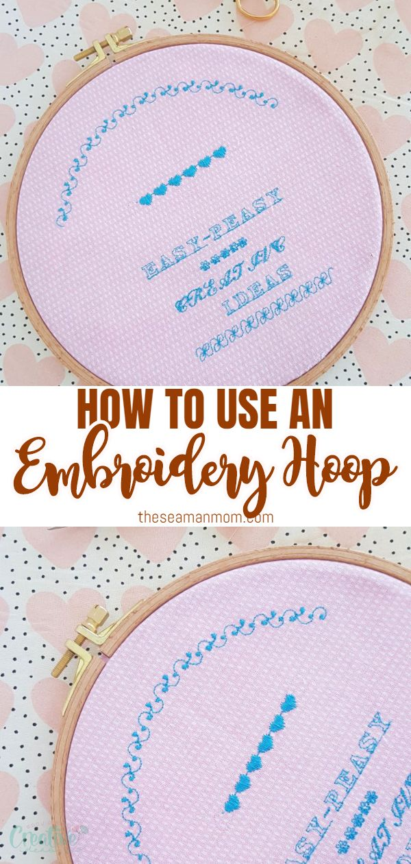 Using an embroidery hoop is super easy and will help you get the best results in your embroidery! In this short tutorial you'll learn how to use an embroidery hoop to keep your fabric taut and secure! via @petroneagu