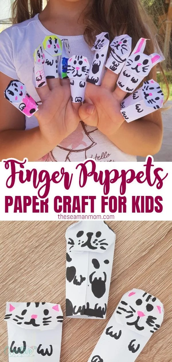 Paper finger puppets