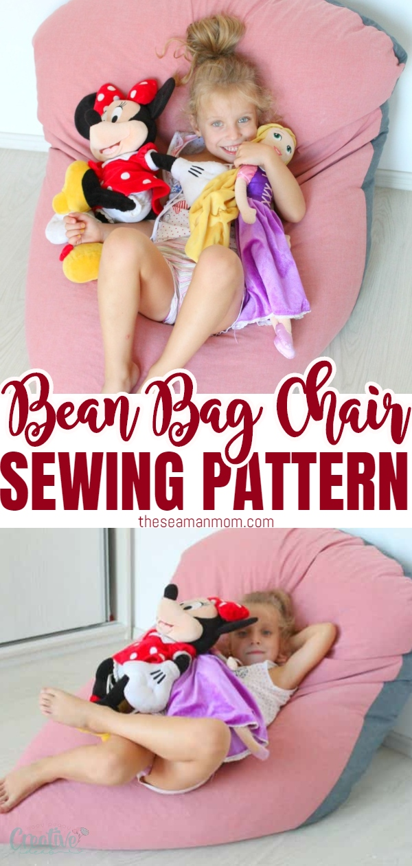 Make your own bean bag in 30 minutes with this easy bean bag tutorial! This funky DIY bean bag chair is so comfy and easy to make, you'll want to sew one for each member of your family! via @petroneagu