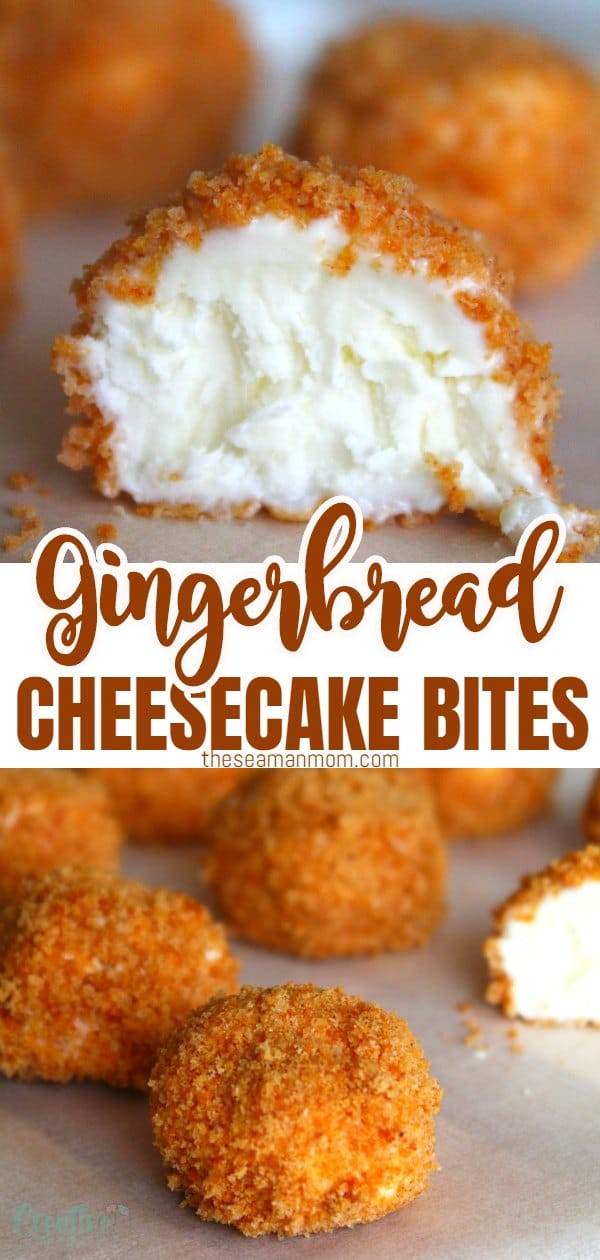 Need a party dessert this season?You don't need to turn on the oven for these delicious, rich and refreshing frozen cheesecake bites rolled in gingerbread crumbs! via @petroneagu
