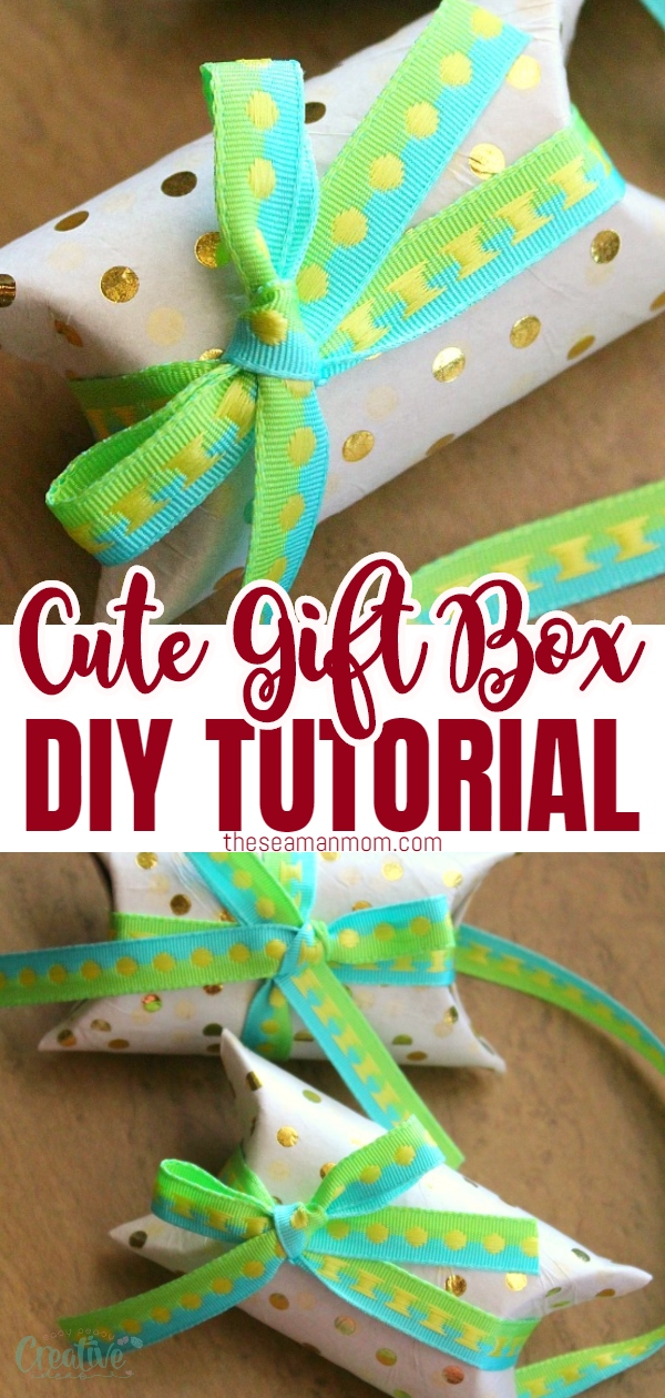 No need to buy gift boxes when you can make your own adorable, pretty and personalized recycled DIY gift box for a fraction of the cost! Stand out from the crowd with a lovely toilet paper roll gift box! via @petroneagu
